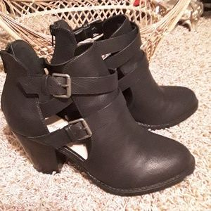 Shoes - Cutout Booties
